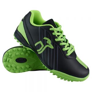 Kookaburra Neon Lime Junior Hockey Shoe (Black/Green)