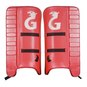 Gryphon S2 Goalkeeper Leg Guards (Red/White)
