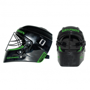Gryphon Sentinel Club Hockey Goalkeeper Helmet (Black/Green)