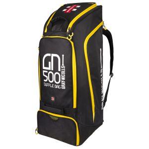 Gray Nicolls Cricket GN500 Duffle (Black/Yellow)