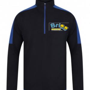 Brigg Tennis 1/4 Zip Blue/Navy Jacket – Adult
